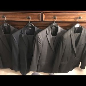 Calvin Klein black subtle pinstripe suit